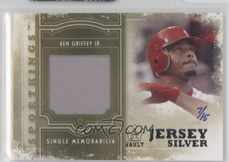 db488d001c 2012 Sportkings Series E - Single Memorabilia - Silver Jersey 2015 Sport  Kings Vault #SM-03 - Ken Griffey Jr. /15