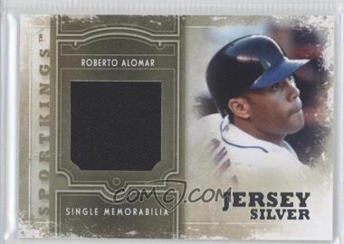2012 Sportkings Series E - Single Memorabilia - Silver Jersey #SM-01 - Roberto Alomar