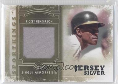 2012 Sportkings Series E - Single Memorabilia - Silver Jersey #SM-04 - Rickey Henderson