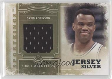 2012 Sportkings Series E - Single Memorabilia - Silver Jersey #SM-09 - David Robinson