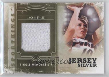 2012 Sportkings Series E - Single Memorabilia - Silver Jersey #SM-10 - Jackie Stiles