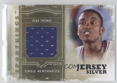 2012 Sportkings Series E - Single Memorabilia - Silver Jersey #SM-11 - Isiah Thomas