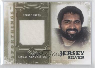 2012 Sportkings Series E - Single Memorabilia - Silver Jersey #SM-14 - Franco Harris