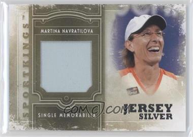 2012 Sportkings Series E - Single Memorabilia - Silver Jersey #SM-17 - Martina Navratilova