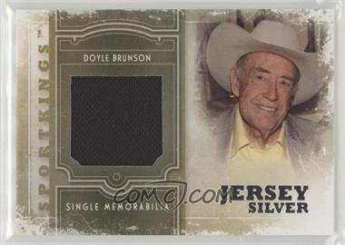 2012 Sportkings Series E - Single Memorabilia - Silver Jersey #SM-19 - Doyle Brunson