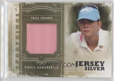 2012 Sportkings Series E - Single Memorabilia - Silver Jersey #SM-20 - Paula Creamer