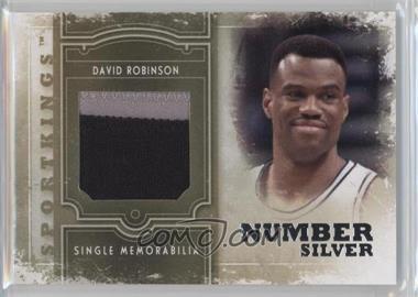 2012 Sportkings Series E - Single Memorabilia - Silver Number #SM-09 - David Robinson /9