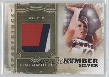 2012 Sportkings Series E - Single Memorabilia - Silver Number #SM-10 - Jackie Stiles /9