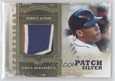2012 Sportkings Series E - Single Memorabilia - Silver Patch #SM-01 - Roberto Alomar /9
