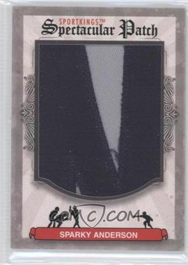 2012 Sportkings Series E - Spectacular Patch #SP-60 - Sparky Anderson /1
