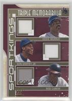 Eddie Murray, Ken Griffey Jr., Rod Carew #/3