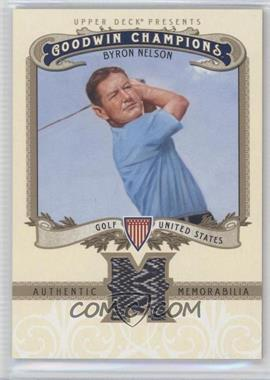 2012 Upper Deck Goodwin Champions - Authentic Memorabilia #M-BN - Byron Nelson