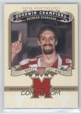 2012 Upper Deck Goodwin Champions - Authentic Memorabilia #M-BS - Brendan Shanahan