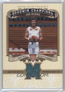 2012 Upper Deck Goodwin Champions - Authentic Memorabilia #M-DM - Dan Marino