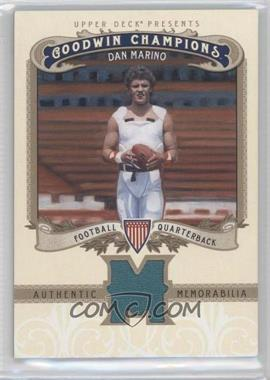 2012 Upper Deck Goodwin Champions - Authentic Memorabilia #M-DM - Dan Marino