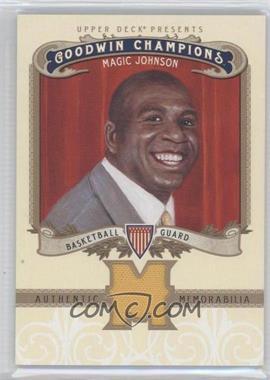 2012 Upper Deck Goodwin Champions - Authentic Memorabilia #M-JO - Magic Johnson