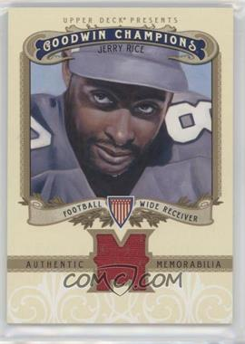 2012 Upper Deck Goodwin Champions - Authentic Memorabilia #M-JR - Jerry Rice
