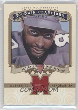 2012 Upper Deck Goodwin Champions - Authentic Memorabilia #M-JR - Jerry Rice