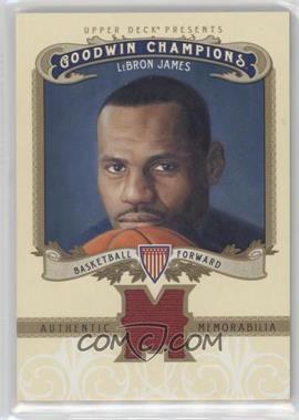2012 Upper Deck Goodwin Champions - Authentic Memorabilia #M-LJ - LeBron James