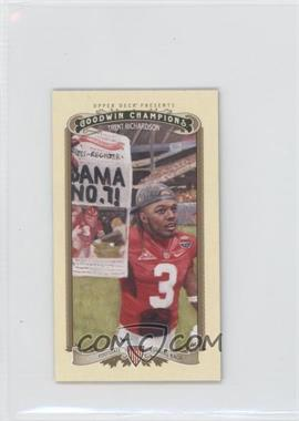 2012 Upper Deck Goodwin Champions - [Base] - Minis #96 - Trent Richardson