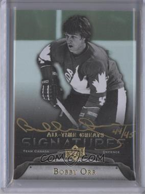 2012 Upper Deck UD All-Time Greats - Signatures #GA-BO3 - Bobby Orr /45