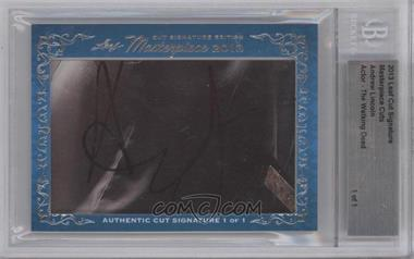 2013 Leaf Masterpiece - Cut Signature #ANLI - Andrew Lincoln /1 [BGS AUTHENTIC]