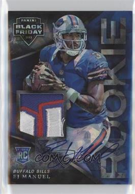 2013 Panini Black Friday - [Base] - Cracked Ice Rookie Patches Autographs [Autographed] #51 - EJ Manuel