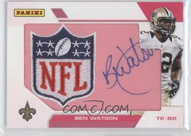 2013 Panini Black Friday - Breast Cancer Awareness NFL Shield Patch Autographs #BW - Ben Watson