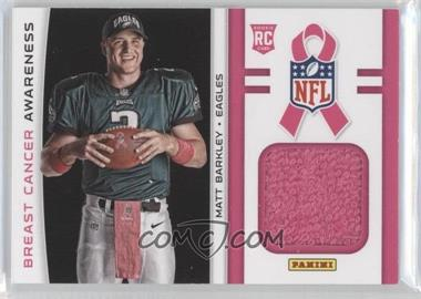 2013 Panini Black Friday - Breast Cancer Awareness Relics #BCA10 - Matt Barkley