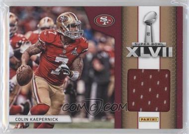 2013 Panini Black Friday - Super Bowl XLVII Memorabilia #SB9 - Colin Kaepernick