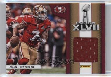 2013 Panini Black Friday - Super Bowl XLVII Memorabilia #SB9 - Colin Kaepernick
