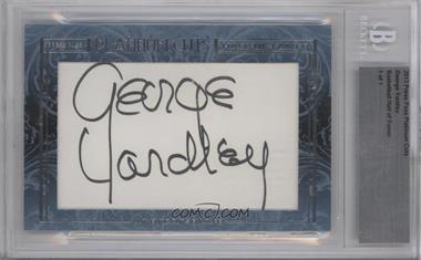 2013 Press Pass Platinum Cuts - Hall of Famer Cut Signatures #GEYA - George Yardley /1 [BGS AUTHENTIC]