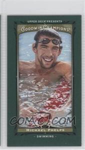 2013 Upper Deck Goodwin Champions - [Base] - Mini Green Lady Luck #92 - Michael Phelps