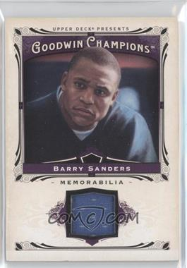 2013 Upper Deck Goodwin Champions - Memorabilia #M-BS - Barry Sanders
