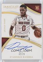 Rookie Autographs - D'Angelo Russell #/25