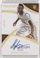 Rookie Autographs - Myles Turner #/25