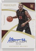 Rookie Autographs - Anthony Brown /25