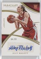 Collegiate Rookie Autographs - Ally Malott /99