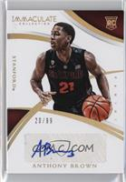 Collegiate Rookie Autographs - Anthony Brown /99