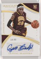 Collegiate Rookie Autographs - Crystal Bradford [EXtoNM] #/99