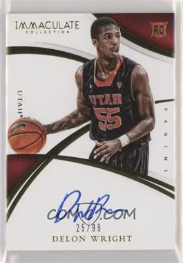 2015 Panini Immaculate Collection Collegiate - [Base] #360 - Rookie Autographs - Delon Wright /99