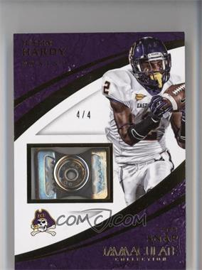 2015 Panini Immaculate Collection Collegiate - Immaculate Chin Snaps #35 - Justin Hardy /4