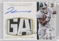 Football Materials Signatures - Jeremy Langford #/10