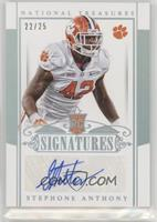 Rookie Signatures - Stephone Anthony /25