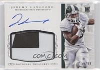 Football Materials Signatures - Jeremy Langford /99