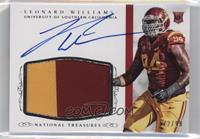Football Materials Signatures - Leonard Williams /99