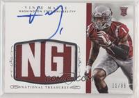 Football Materials Signatures - Vince Mayle #/99