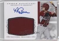 Baseball Materials Signatures - Andrew Benintendi /99