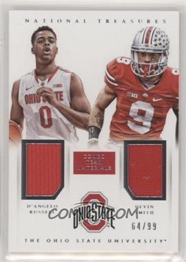 2015 Panini National Treasures College - Combo Team Materials #24 - D'Angelo Russell, Devin Smith /99