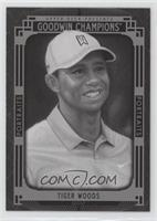 Black and White Portraits - Tiger Woods